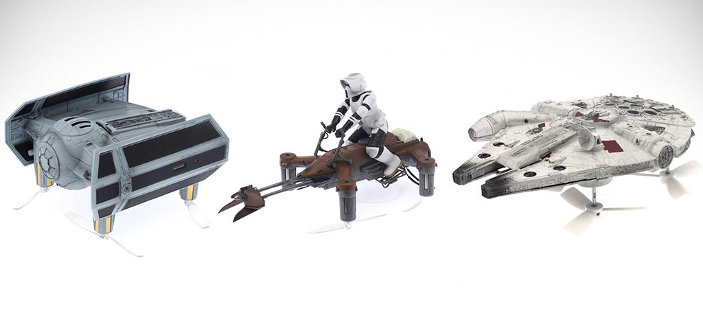 Three different models of the Propel Star Wars Battle Quads