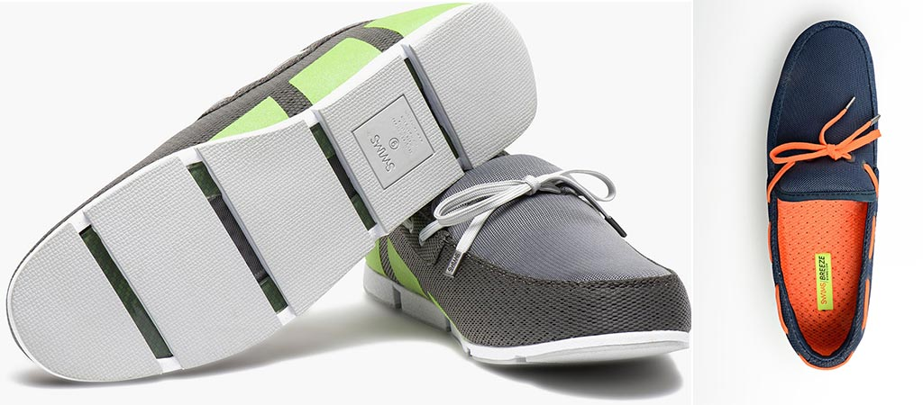 Swims gray and lime Breeze loafers and Blue and Orange loafer