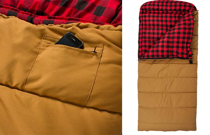 TETON Deer Hunter Sleeping Bag And An Inside Pocket