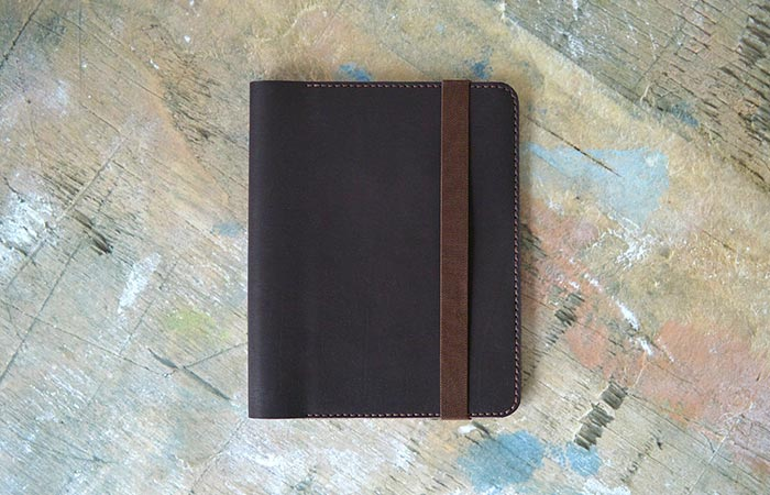 Brown iPad Leather Folio Closed