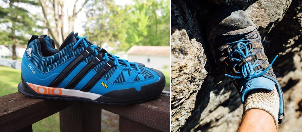 Two different views of the Adidas Solo Stealth Shoes