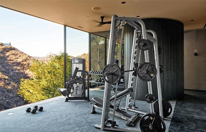 Gym At Michael Bay's LA Home