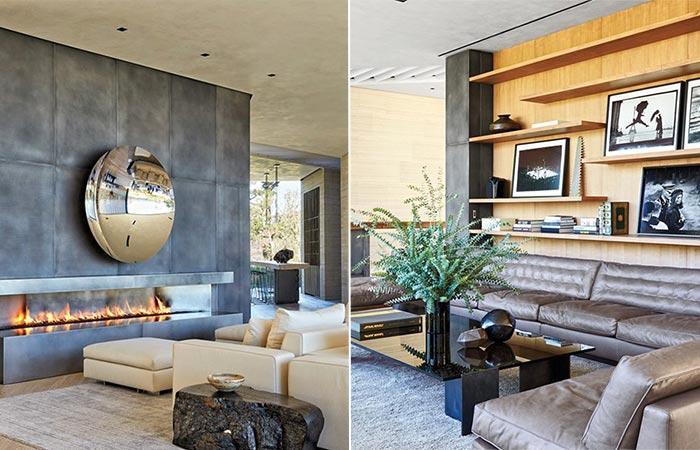 Living Room At Director Michael Bay's Modern Three-Story LA Villa