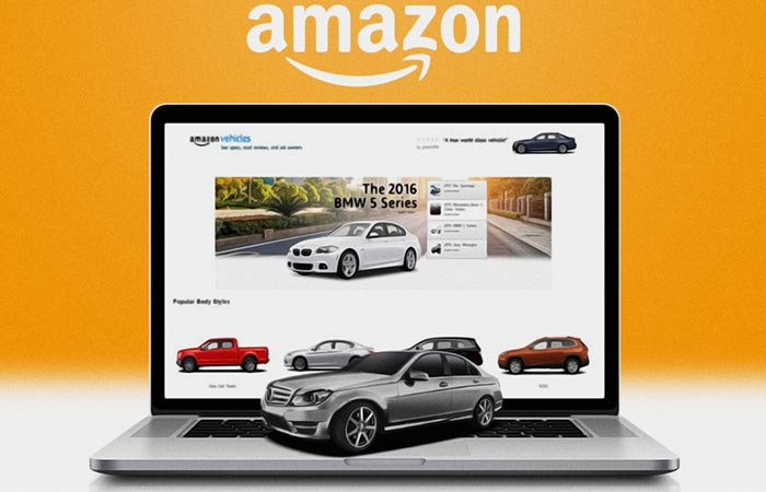 Amazon Vehicles Page On A Laptop