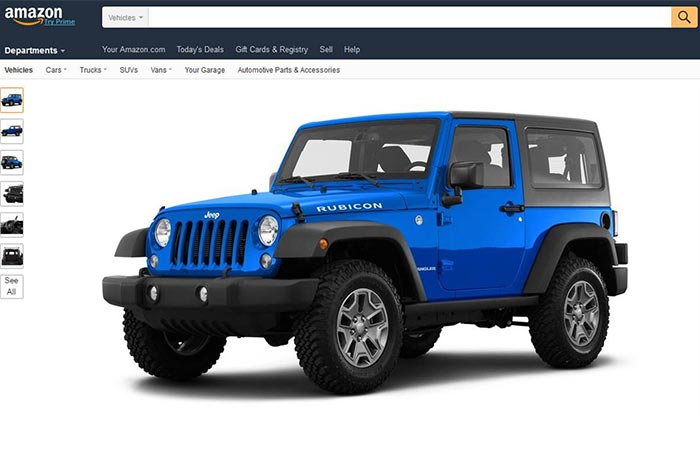 Blue Jeep On Amazon Vehicles Page