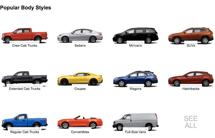 Different Types Of Cars On Amazon Vehicles