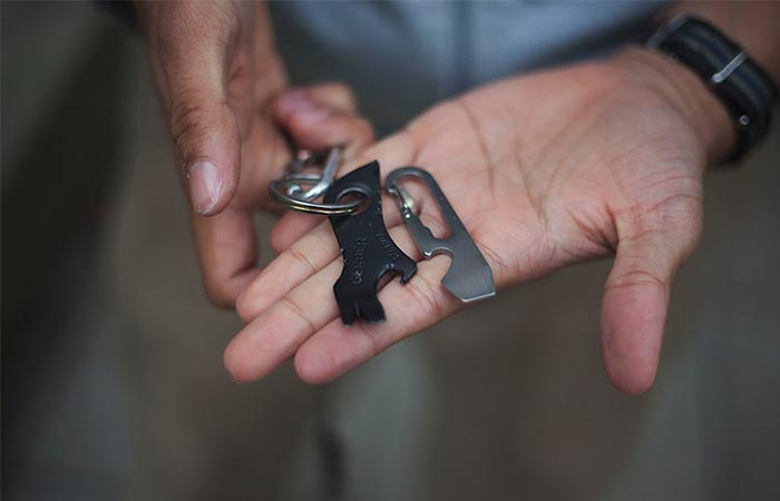 Gerber Shard Keychain Tool In A Palm On A Keychain