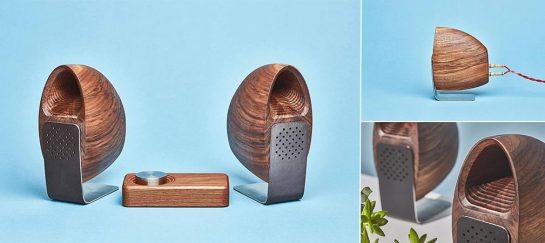 Grovemade Walnut Speakers
