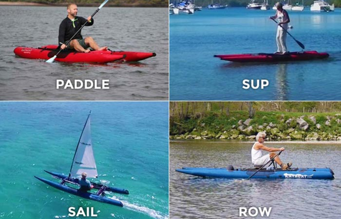 Different ways that the Kayacat can be used.