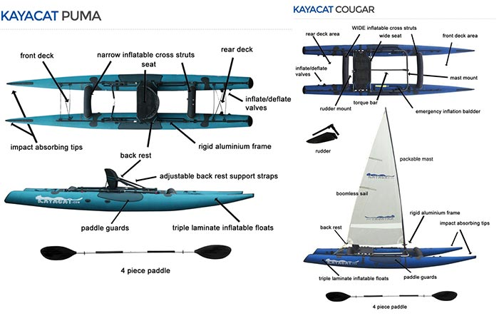 The Puma and The Cougar versions of the Kayacat