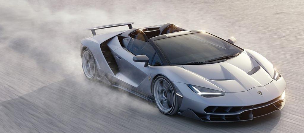 Lamborghini Centenario Roadster riding in dirt
