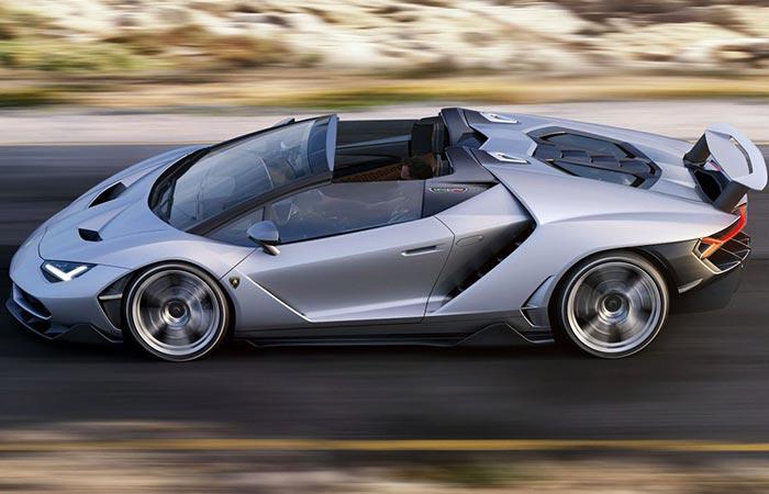 Lamborghini Centenario Roadster riding on the road