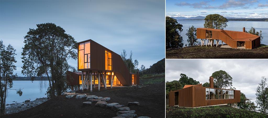 Stunning Apus Kankay House On The Eastern Bank Of A Patagonian Lake