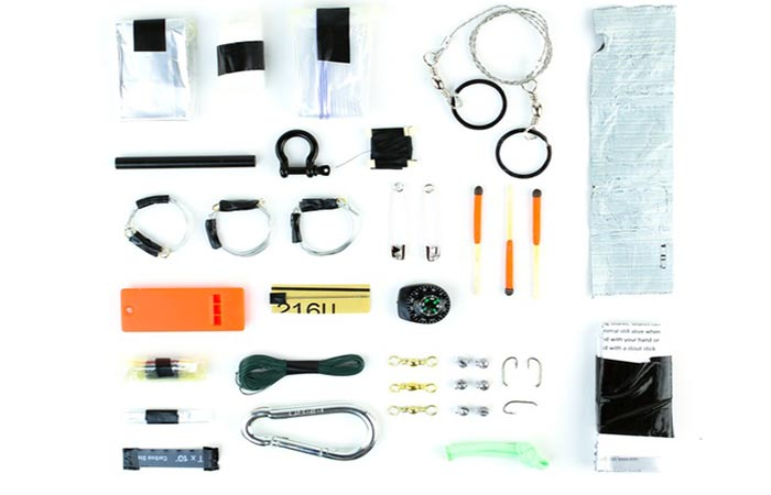 All the components of the Survival Grenade