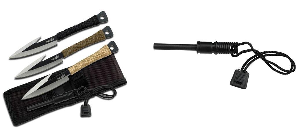 Survivor HK-753 knife set and firestarter