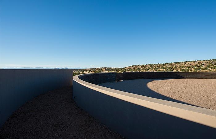 Outdoor Circular Riding Area In Tom Ford's Santa Fe Ranch