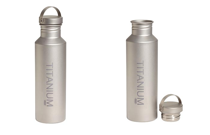Vargo Titanium Water Bottle With Titanium Lid