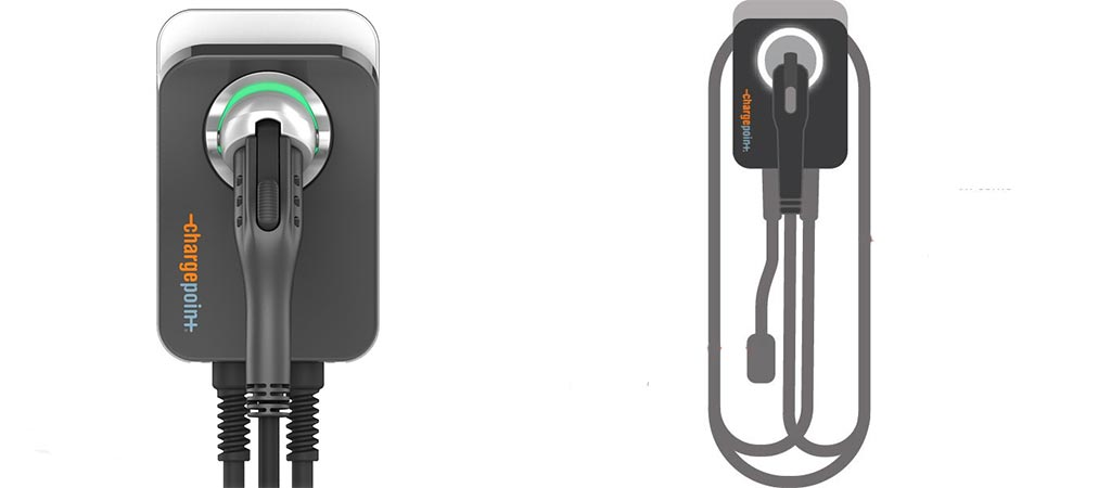 Close up and zoomed out view of the ChargePoint