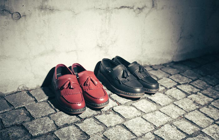 Dr. Martens Lite Edison Shoes Black And Red