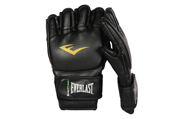 Everlast Mixed Martial Arts Grappling Gloves with a white background
