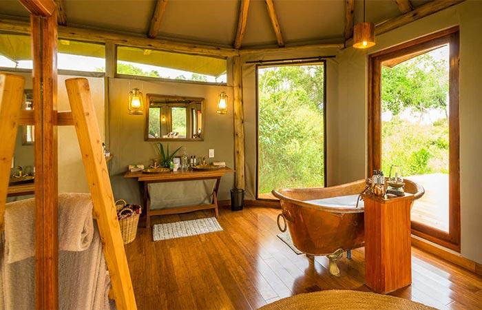 The Safari Collection Sala's Camp Bathroom