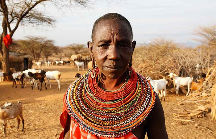 African Lady In A Village