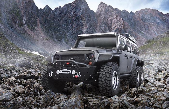 G Patton Tomahawk Customized 6x6 Jeep Wrangler