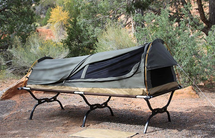Kodiak Canvas Canvas Swag Tent W Sleeping Pad