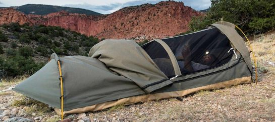 Kodiak Canvas | Canvas Swag Tent W/ Sleeping Pad