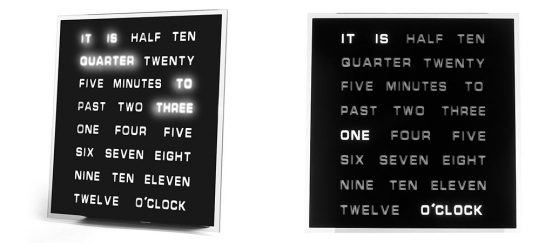 LED Word Clock   A Unique Take On Time With Text