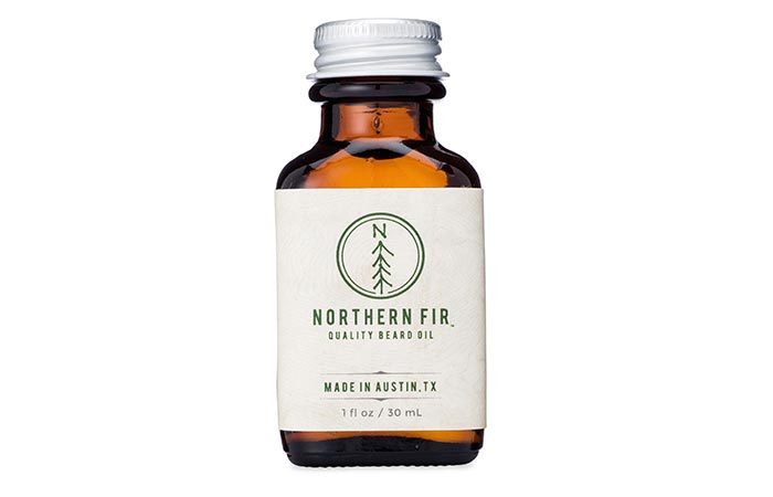 Norther Fir Beard Oil with a white background
