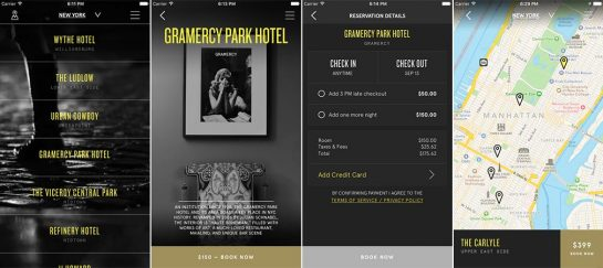 One:Night   A Hotel App For Spontaneous Adventurers