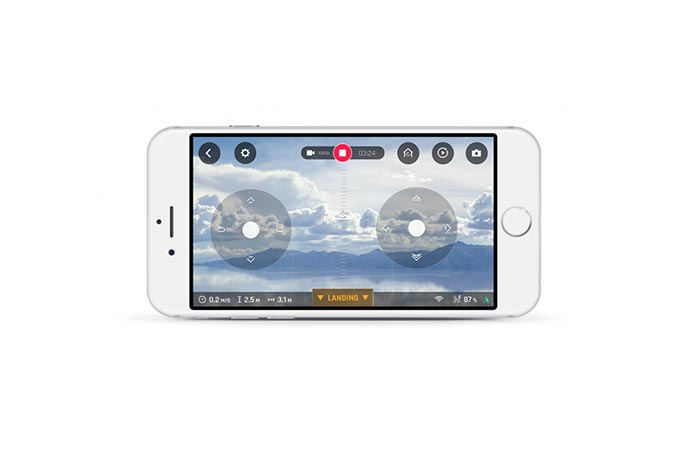 Parrot Disco FPV smartphone app