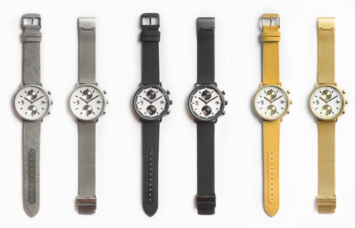 Plan B Watches In Three Colors And Two Straps