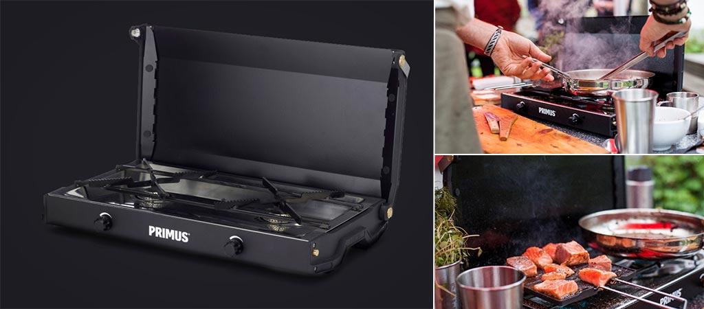 Primus Kinjia Stove   Portable Two-Burner Gas Stove