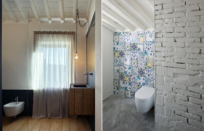 Tuscan Farmhouse Bathroom