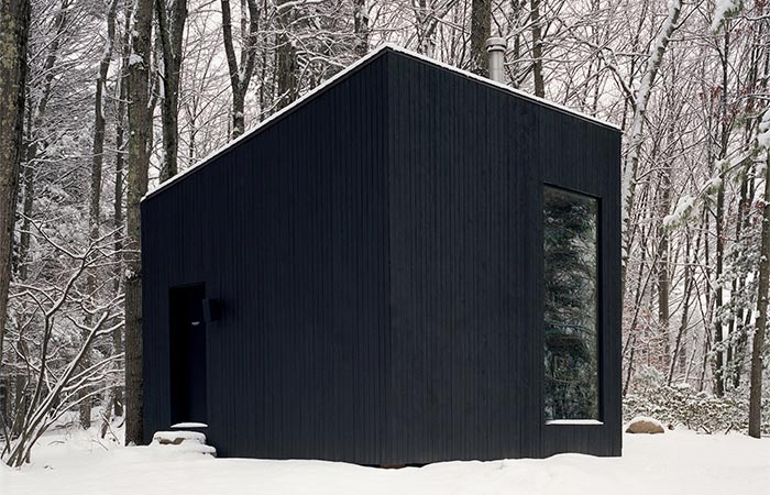 Studio Padron Cabin Surrounded By Snow