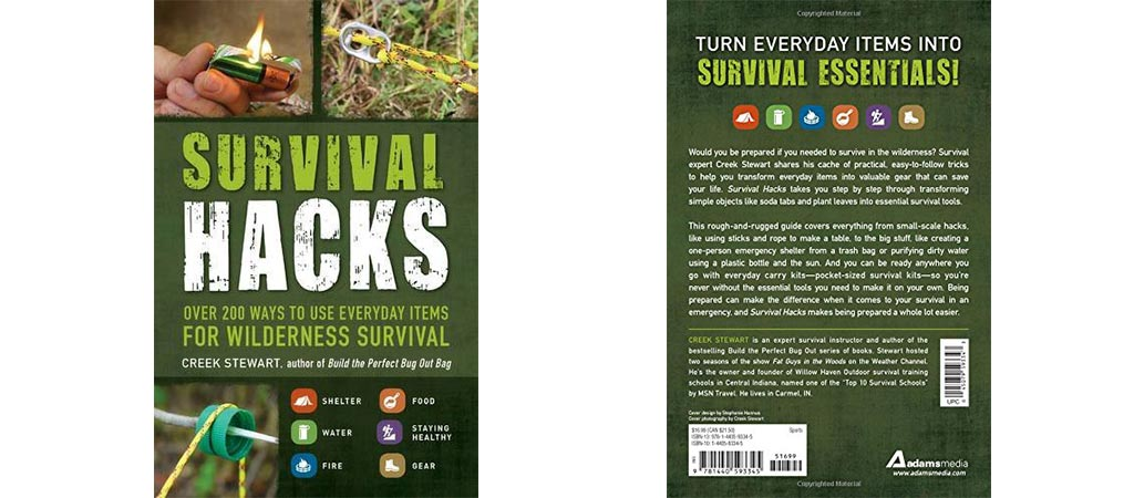 Survival Hacks front and back covers