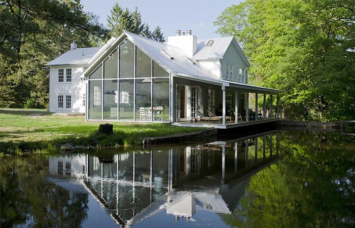 The Floating Farmhouse By Day