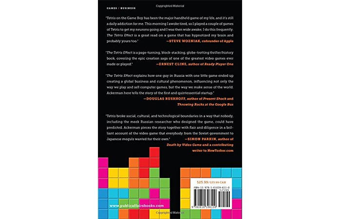 The Tetris Effect back cover