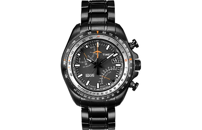Timex Aviator Chronograph black stainless steel