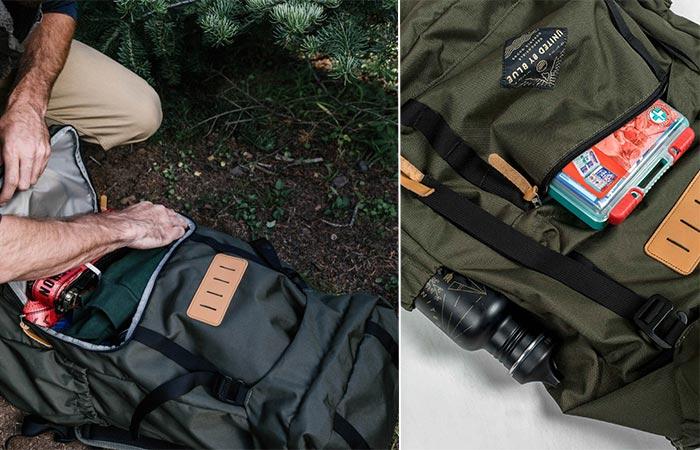 Pockets On United By Blue 45L Range Daypack
