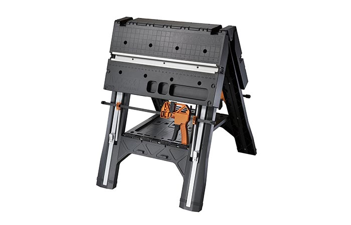 WORX Pegasus Folding Work Table in saw horse mode