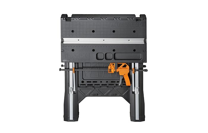 WORX Pegasus Folding Work Table folded up