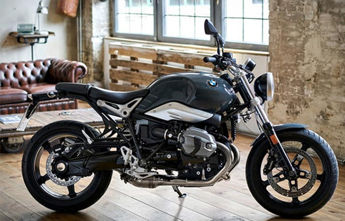 BMW R NineT Pure side view in an apartment