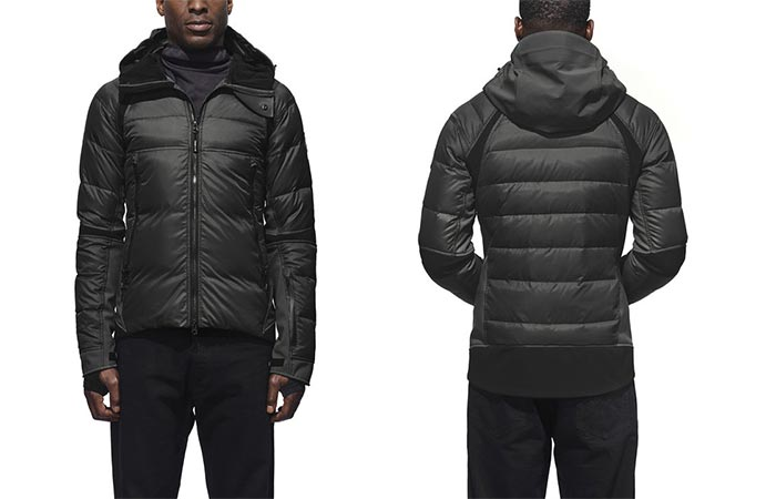 Front and back view of a man wearing the Canada Goose Hybridge Sutton Parka