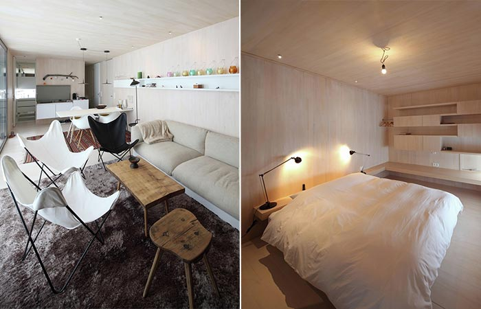 Casa Invisible Living Room and Bedroom
