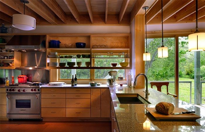 Flood Plain House Kitchen Counters