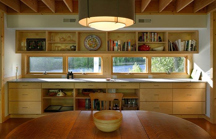 Flood Plain House Kitchen