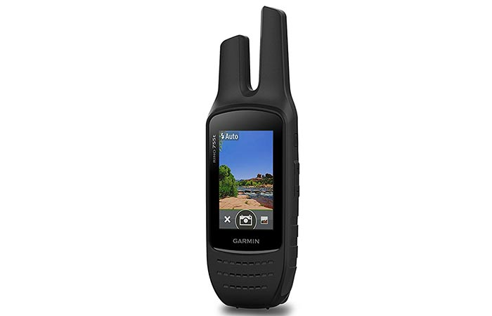 Photo of the camera function on the Garmin Rino 755T